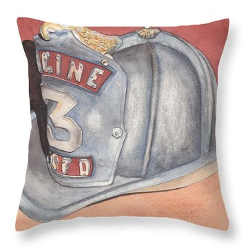 Rondo's Fire Helmet Throw Pillow by Ken Powers
