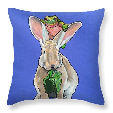 Ronnie The Rabbit Throw Pillow