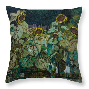 Ronnie's Sunflowers Throw Pillow