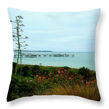 Roof Top View Throw Pillow