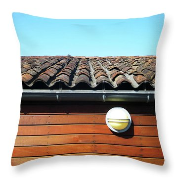 Roofline Ripples Throw Pillow