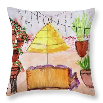 Rooftop At The Canary Throw Pillow