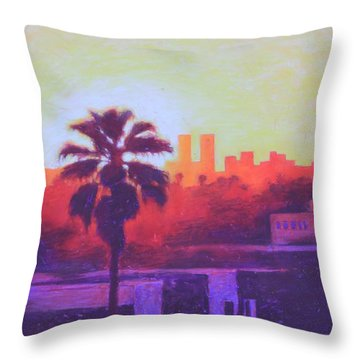 Rooftop Glow Throw Pillow