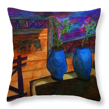 Rooftop View Throw Pillow by Christy Saunders Church