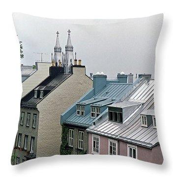 Throw Pillow featuring the photograph Rooftops by John Schneider