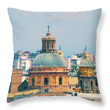 Throw Pillow featuring the photograph Rooftops Of Seville - 1 by Mary Machare