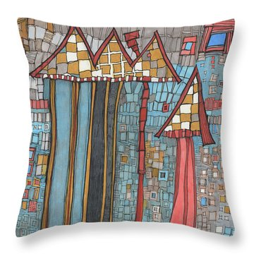 Dilapidated World Throw Pillow by Sandra Church