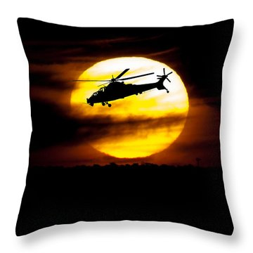Rooivalk Sunset Throw Pillow