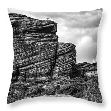 Rook Rock Throw Pillow