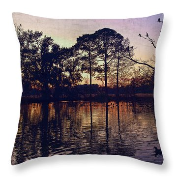 Throw Pillow featuring the photograph Rookery by Ray Devlin