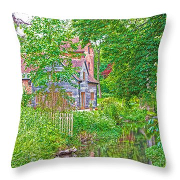 Rooksbury Mill Throw Pillow by Andrew Middleton
