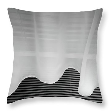 Throw Pillow featuring the photograph Room 515 by Eric Lake