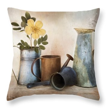 Throw Pillow featuring the photograph Room For More by Robin-Lee Vieira