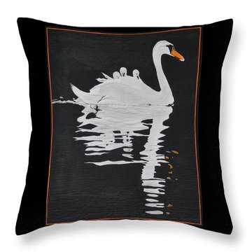 Throw Pillow featuring the painting Room For One More by Jo Baner