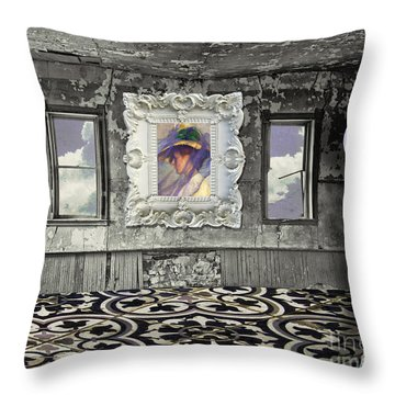 Room In The Sky Throw Pillow