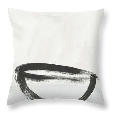 Room To Receive 1- Zen Abstract Art By Linda Woods Throw Pillow