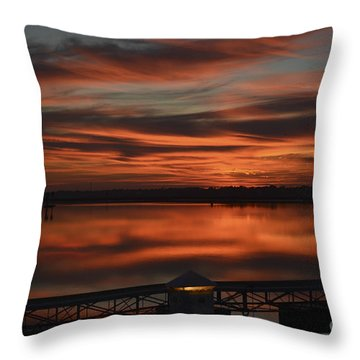 Room With A View Throw Pillow by Kathy Baccari