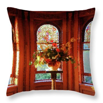 Room With A View Throw Pillow by Kristin Elmquist