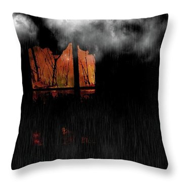 Room With Clouds Throw Pillow
