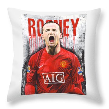 Rooney Throw Pillow by Jeff Gomez