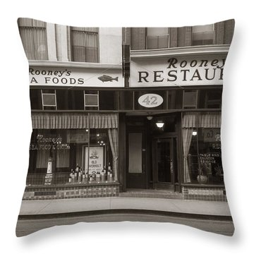 Rooney's Restaurant Wilkes Barre Pa 1940s Throw Pillow