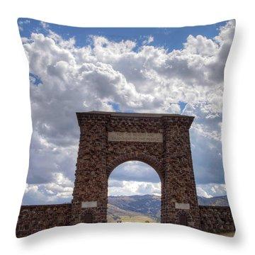Roosevelt Arch Throw Pillow