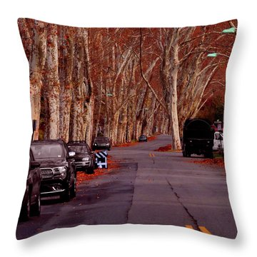 Roosevelt Avenue Red Throw Pillow