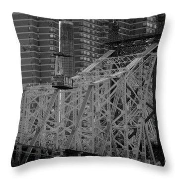 Roosevelt Island Tram Throw Pillow