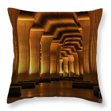 Throw Pillow featuring the photograph Roosevelt Night Shot by Tom Claud