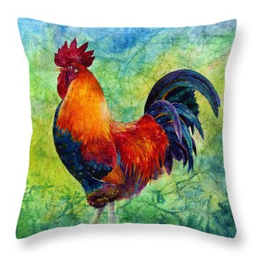 Rooster 2 Throw Pillow by Hailey E Herrera