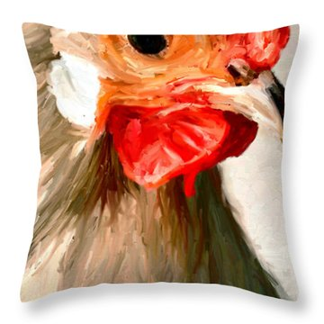 Throw Pillow featuring the digital art Rooster 2 by James Shepherd