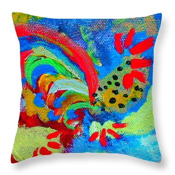Rooster In The Sky From The Fairy Queen Throw Pillow