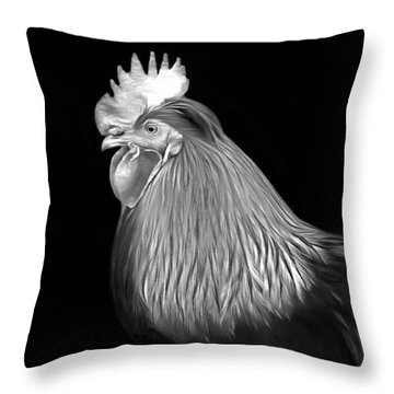 Rooster Throw Pillow by Marion Johnson