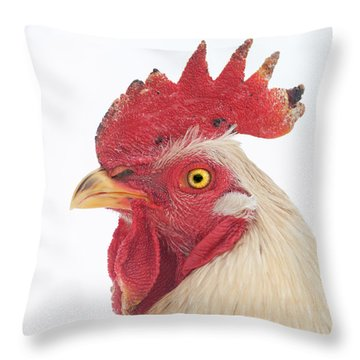 Rooster Named Spot Throw Pillow