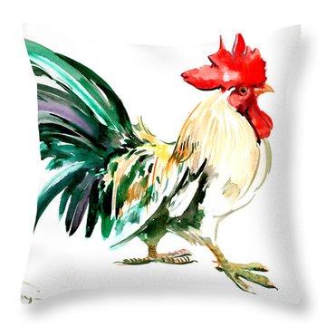 Rooster Throw Pillow by Suren Nersisyan