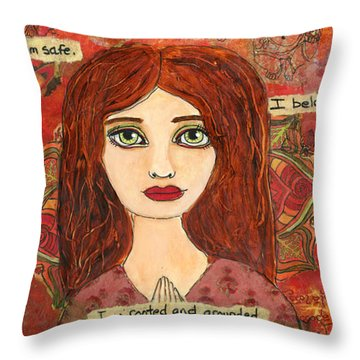 Root Chakra Throw Pillow