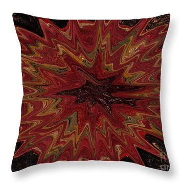 Root Flower Digital Throw Pillow