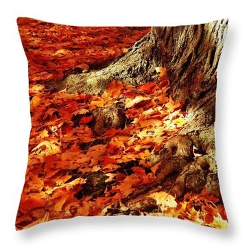 Rooted In New England Throw Pillow