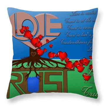 Rooted In Trust Throw Pillow