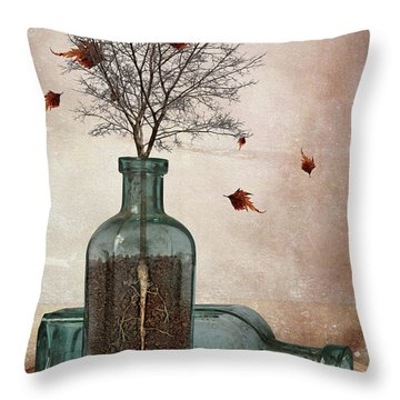 Rooted Throw Pillow by Mihaela Pater