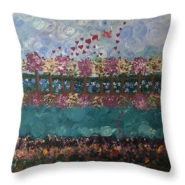 Roots And Wings Throw Pillow