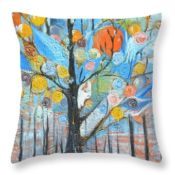 Roots Throw Pillow by Evelina Popilian