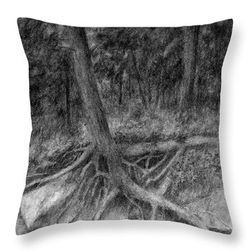 Roots II Throw Pillow