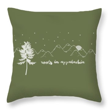 Throw Pillow featuring the digital art Roots In Appalachia by Heather Applegate