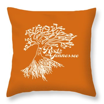 Roots In Tennessee Throw Pillow