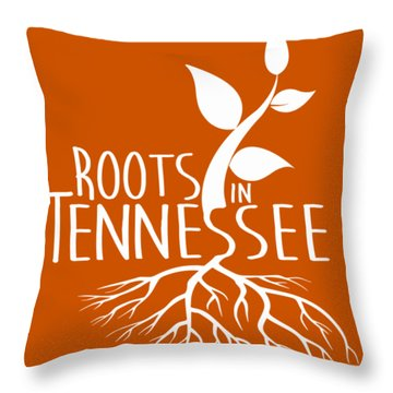 Roots In Tennessee Seedlin Throw Pillow