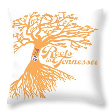 Throw Pillow featuring the photograph Roots In Tn Orange by Heather Applegate