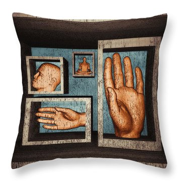 Roots Of Creativity Throw Pillow