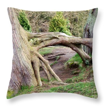 Roots Of Strength Throw Pillow by Mary Mikawoz