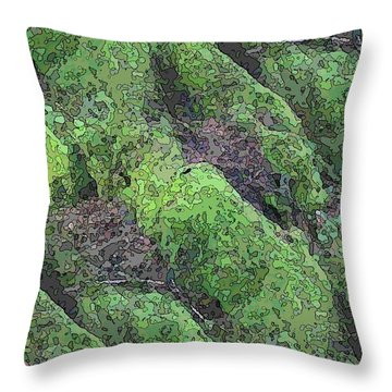 Roots Of The Ages Throw Pillow by Tim Allen